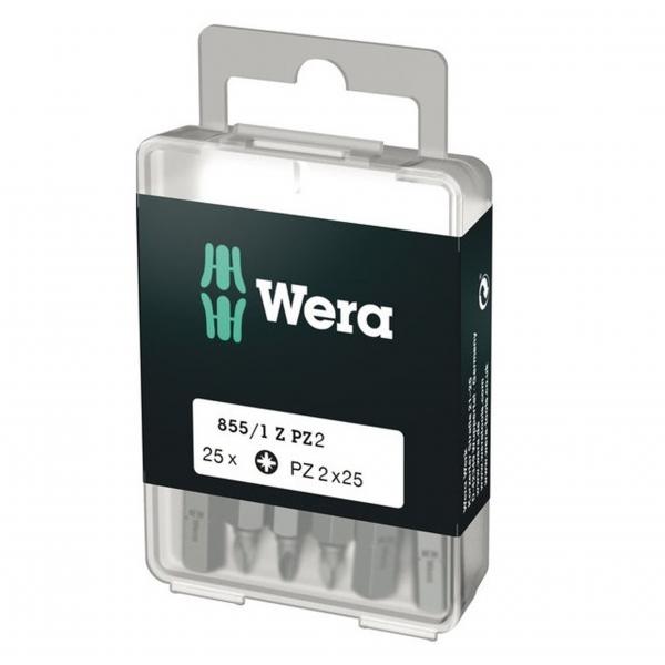 Biti pentru surubelnite Pozidrive Wera WERA05072404005, PZ2X25 mm, 25 bucati WERA