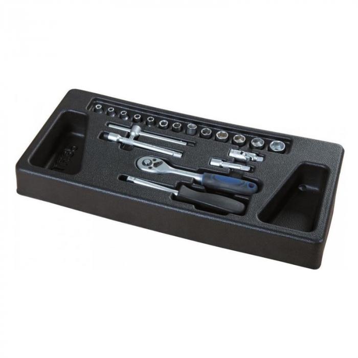 Carucior portabil cu scule TW1000 Scheppach SCH5909304900, 7 sertare, 263 piese 7