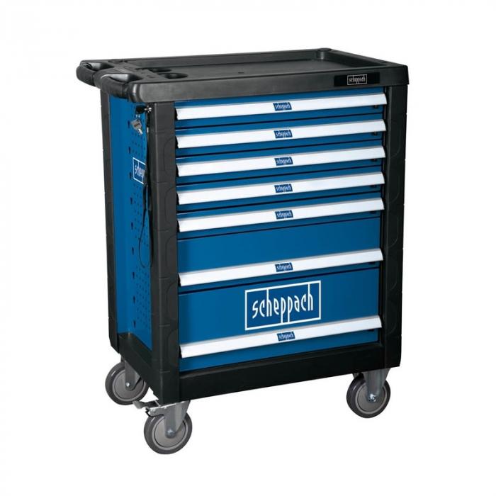 Carucior portabil cu scule TW1000 Scheppach SCH5909304900, 7 sertare, 263 piese 18