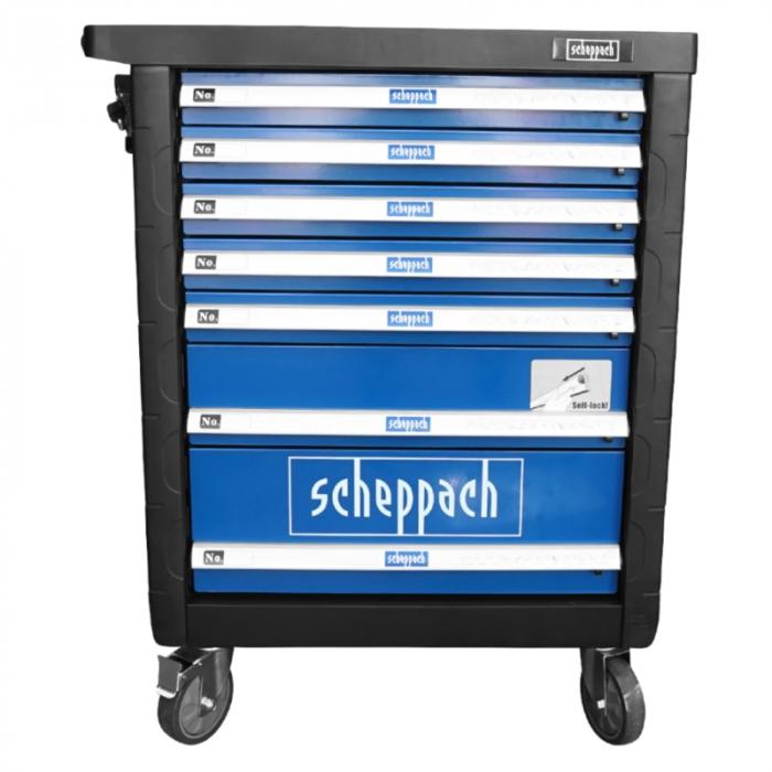 Carucior portabil cu scule TW1000 Scheppach SCH5909304900, 7 sertare, 263 piese 20
