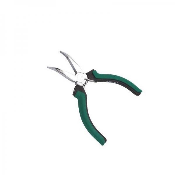 Cleste mini cu varf lung curbat Troy T 21054, 120 mm 0