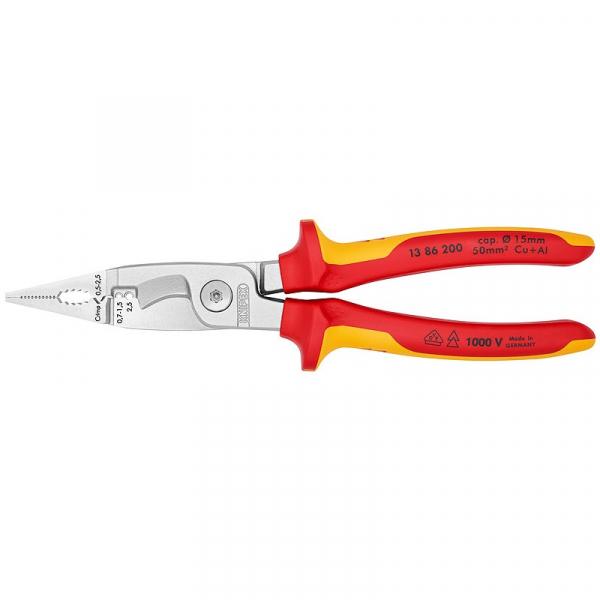 Cleste profesional combinat izolat Knipex KNI1386200, 200 mm, 6 in 1 imagine 2021 casaidea.ro