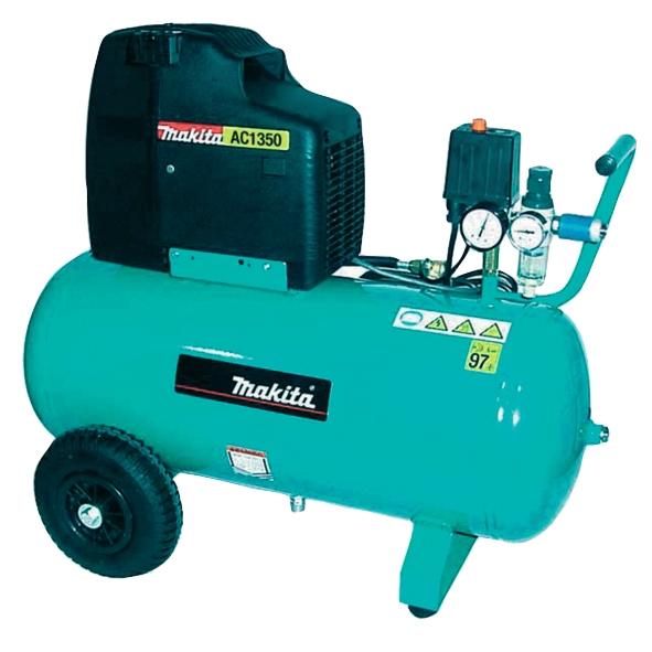 Compresor fara ulei Makita AC1350, 1500 W, 50 L, 10 bari casaidea.ro