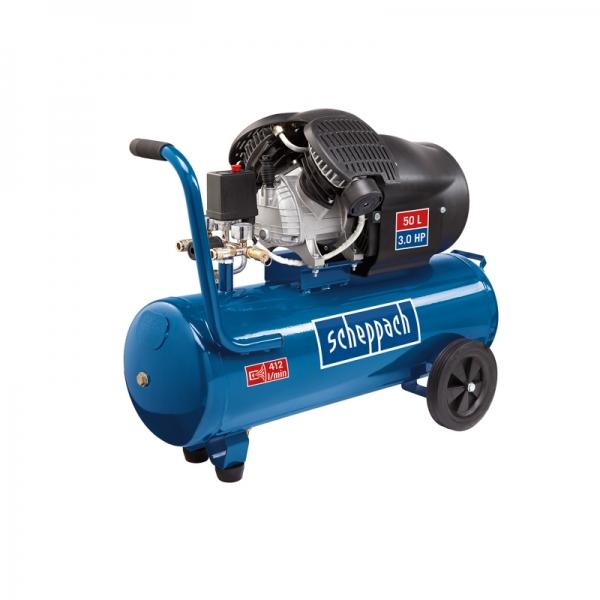 Compresor cu doi cilindri HC52DC Scheppach SCH5906101901, 1500 W, 50L, 8 bari poza casaidea 2021