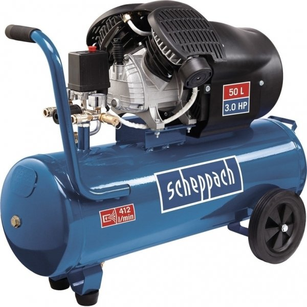 Compresor cu doi cilindri HC53DC Scheppach SCH5906102901, 2200 W, 50L, 10 bari casaidea.ro