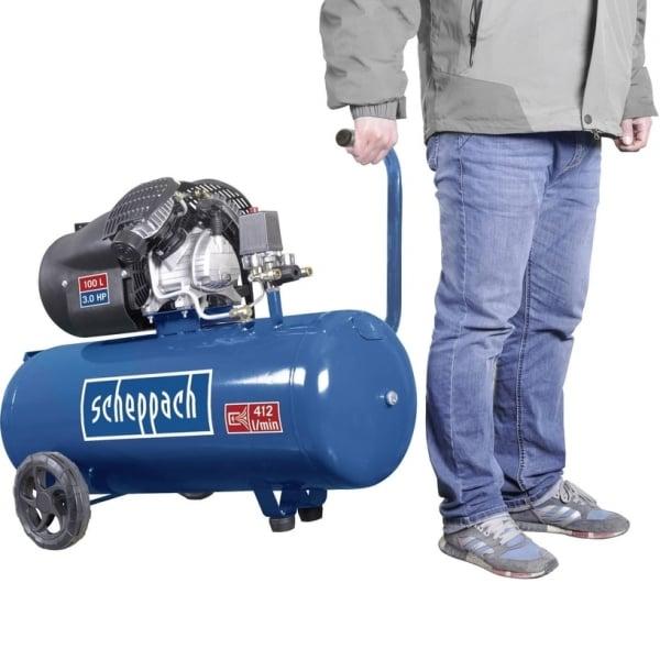 Compresor cu doi cilindrii HC100DC Scheppach SCH5906120901, 2200 W, 100 L, 8 bari 1