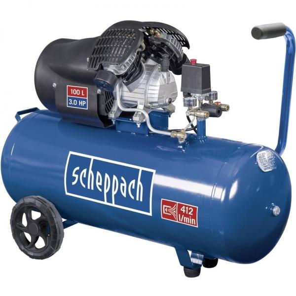 Compresor cu doi cilindrii HC100DC Scheppach SCH5906120901, 2200 W, 100 L, 8 bari 0