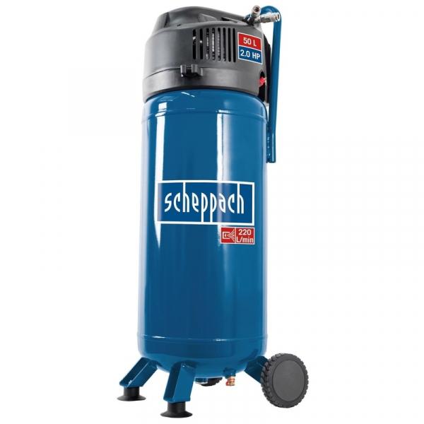 Compresor fara ulei HC51V Scheppach SCH5906125901, 1500 W, 50 l, 10 bari( 510807)