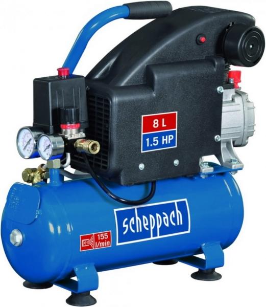 Compresor HC08 Scheppach SCH5906119901, 1100 W, 8 L, 8 bari casaidea.ro