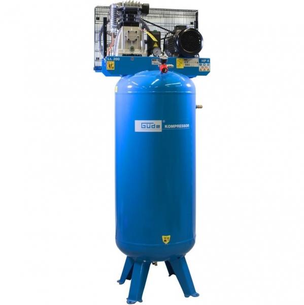 Compresor stationar cu piston dublu Guede GUDE01747, 3000 W, 200 L, 10 bari imagine 2021 casaidea.ro