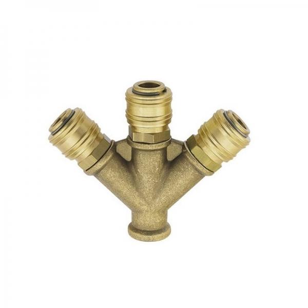 Conector aer comprimat cu 3 capete de cuplare Ludecke LUDVWS38ES casaidea.ro