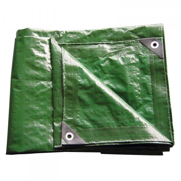 Prelata impermeabila din polietilena laminata Dema DEMA24709, verde, 6 x 10 m poza casaidea 2021