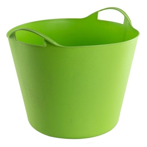 Cos de rufe flexibil cu manere Dema DEMA15140, 25 l, verde DEMA