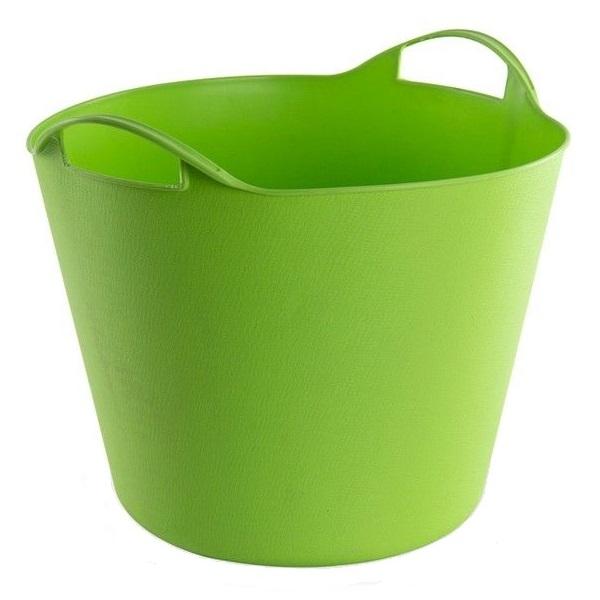 Cos de rufe flexibil cu manere Dema DEMA15140, 25 l, verde poza casaidea 2021