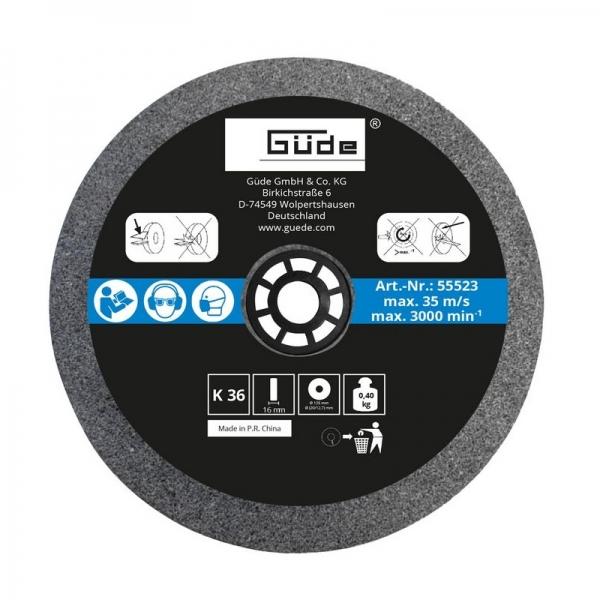 Disc abraziv pentru polizor de banc Guede Gude55523 O125x16x20 mm granulatie K36( 469211)