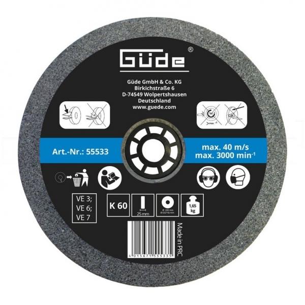 Disc abraziv pentru polizor de banc Guede GUDE55533, O200x25x32 mm, granulatie K60 poza casaidea 2021
