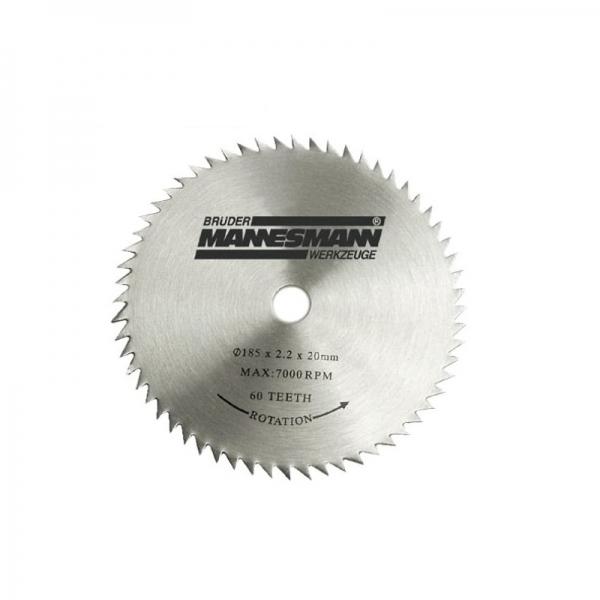 Disc pentru fierastrau circular taiere lemn Mannesmann M12831 O254 x 25.4 mm 60 dinti