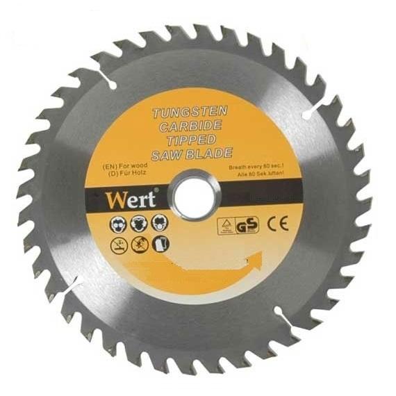 Disc pentru fierastrau circular tip TCT, taiere lemn Wert W2540-125, Ø125 mm 0