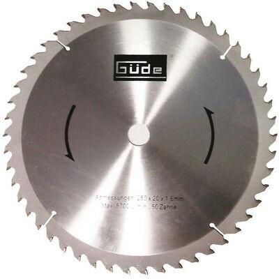 Disc pentru fierastrau circular, taiere lemn Guede GUDE55023, O250x20 mm, 50 dinti casaidea.ro