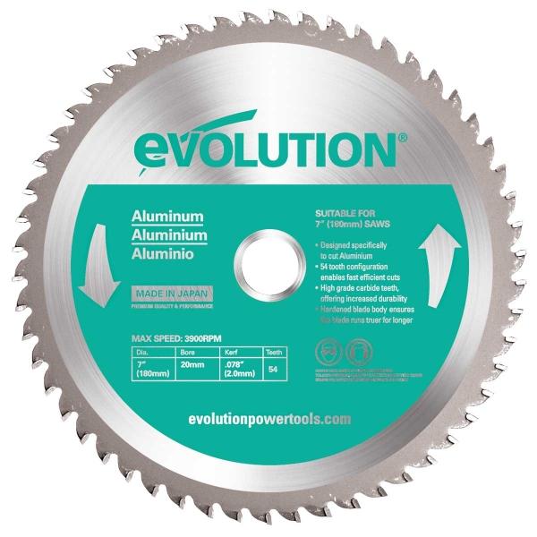 Disc pentru fierastrau circular, taiere aluminiu Evolution EVOEVOBLADEAL-0422, O180 x 20 mm, 54 dinti casaidea.ro