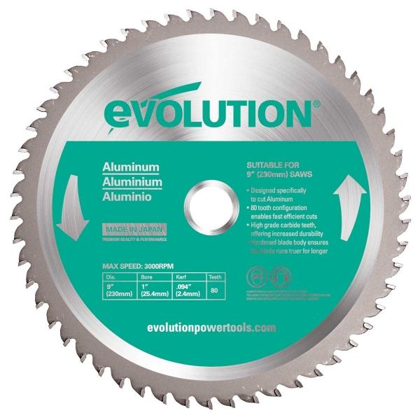 Disc pentru fierastrau circular, taiere aluminiu Evolution EVOEVOBLADE230AL-0460, O230 x 25.4 mm, 80 dinti casaidea.ro