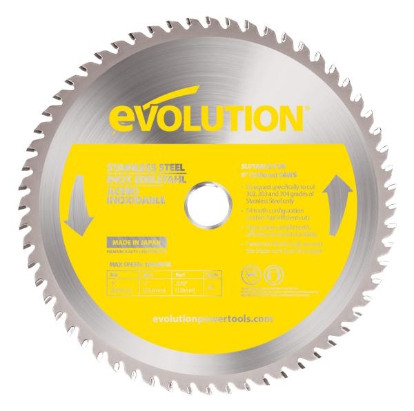 Disc pentru fierastrau circular taiere inox Evolution EVOEVOBLADE230SS 0477 O230 x 25.4 mm 60 dinti