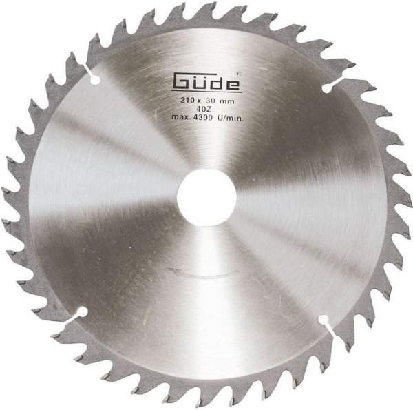 Disc pentru fierastrau circular, taiere lemn Guede GUDE55075, O210x30 mm, 40 dinti casaidea.ro