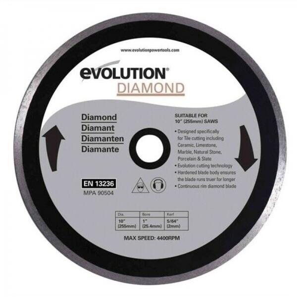 Disc diamantat pentru fierastrau circular Evolution EVORAGEBLADE255DIAMOND-1619, O255x25.4 mm casaidea.ro
