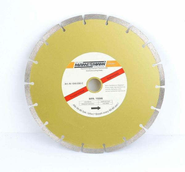 Disc diamantat segmentat pentru fierastrau circular Mannesmann M1245-230, O230 mm casaidea.ro