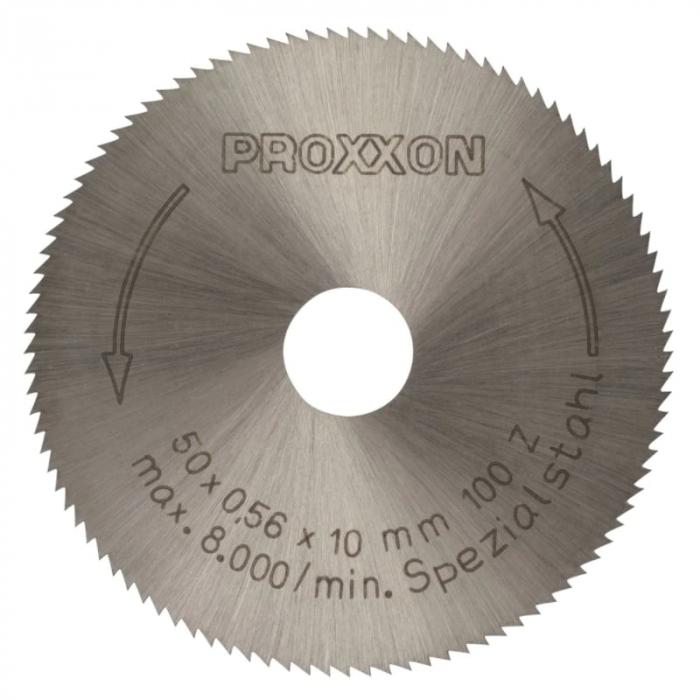 Disc HSS pentru KS 230, taiere metal, lemn, plastic ProxxonPRXN28020, Ø50x10 mm, 100 dinti [1]