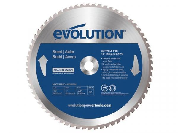 Disc pentru fierastrau circular, taiere otel Evolution EVOEVOBLADE255-1396, O255 x 25.4 mm, 52 dinti poza casaidea 2021