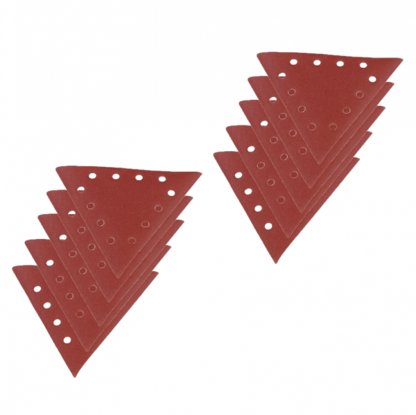 Set discuri abrazive triunghiulare pentru masinile de slefuit Scheppach SCH7903800602, granulatie 100, 10 bucati casaidea.ro