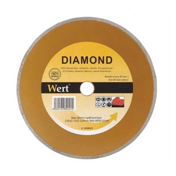 Disc diamantat, taiere marmura, granit, faianta Wert W2710-115, Ø115x22.2 mm 0