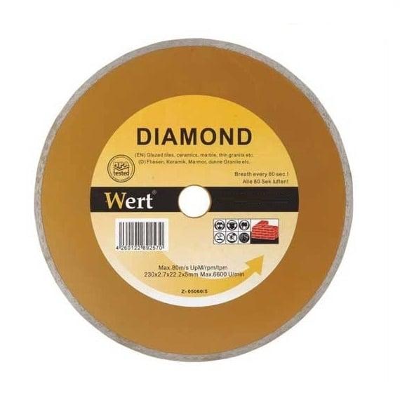 Disc diamantat, taiere marmura, granit, faianta Wert W2710-125, O125x22.2 mm casaidea.ro