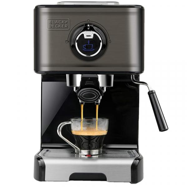 Espressor manual BXCO1200E Black&Decker B+DES9200010B, 1200W 1