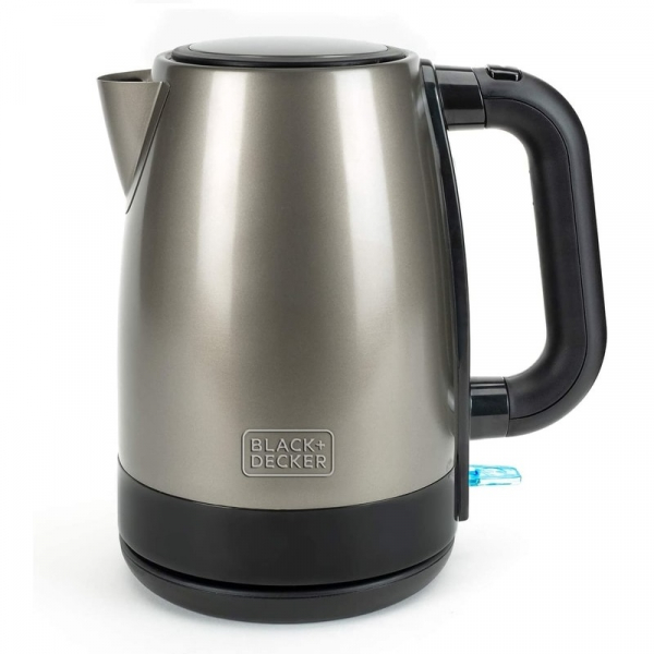 Fierbator de apa din inox BXKE2201E Black Decker B+DES9580040B, 2200 W, 1.7 litri poza casaidea 2021
