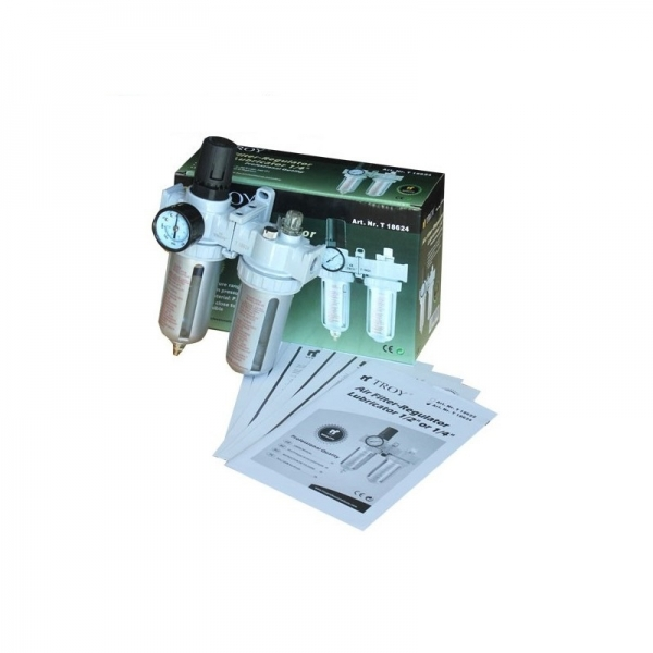 Filtru - Regulator - Uleietoare Troy T18624, 1/4, 10-120 psi, 0-8 bari 1