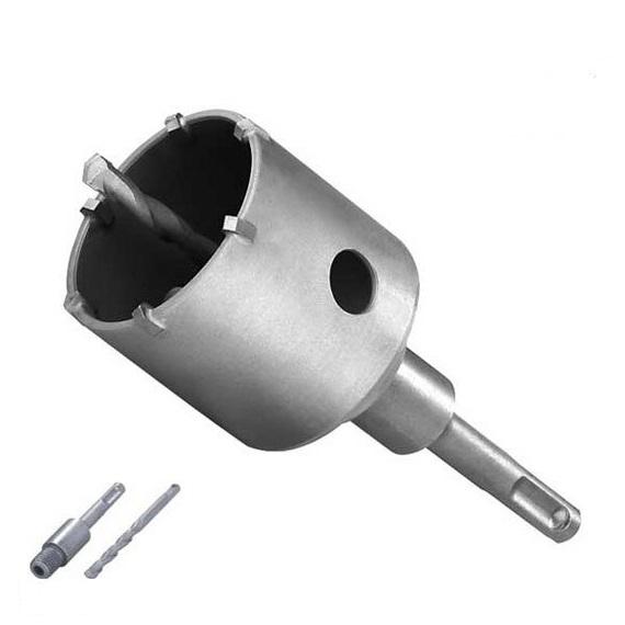Carota SDS-Plus cu pastile din carbura de tungsten Troy T27490, Ø67 mm 0
