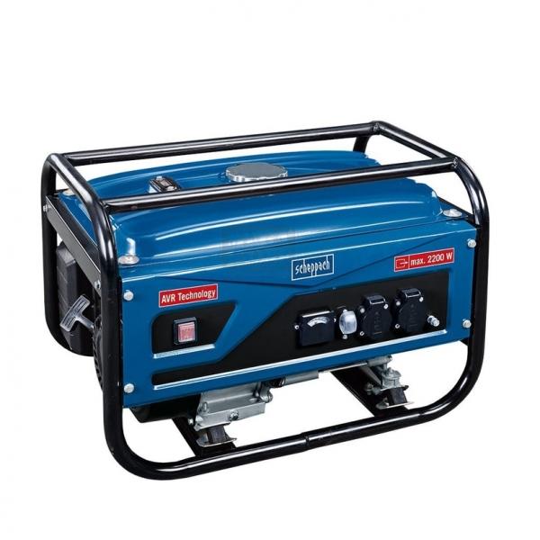 Generator de curent pe benzina SG2500 Scheppach SCH5906201901, 2200 W, 6.5 Cp casaidea.ro