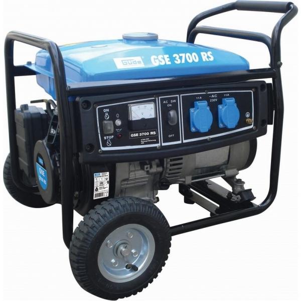 Generator de curent pe benzina GSE 3700 RS Guede GUDE40643, 5000 W, 6.5 Cp casaidea.ro