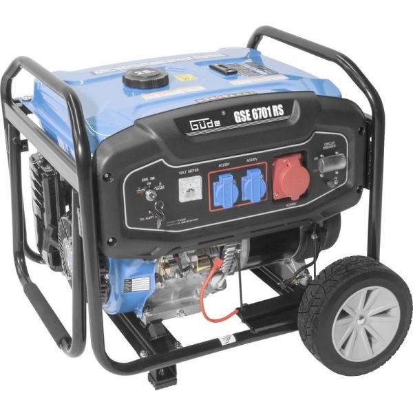 Generator de curent pe benzina GSE 6701 RS Guede GUDE40730, 9000 W, 2x230 V, 1x400 V imagine 2021 casaidea.ro