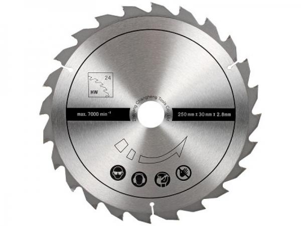 Disc pentru fierastrau circular, taiere lemn Scheppach SCH7901301602, O250x30 mm, 24 dinti poza casaidea 2021