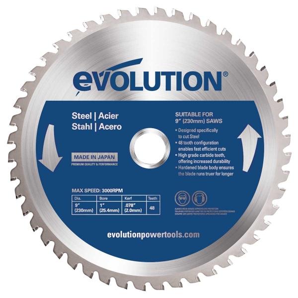 Disc pentru fierastrau circular, taiere otel Evolution EVOEVOBLADE230-0453, O230 x 25.4 mm, 48 dinti imagine 2021 casaidea.ro