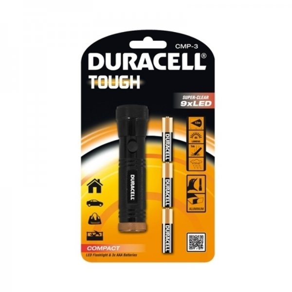 Lanterna LED Tough Duracell DURACELLTOUGHCMP-3, 44 lm imagine 2021