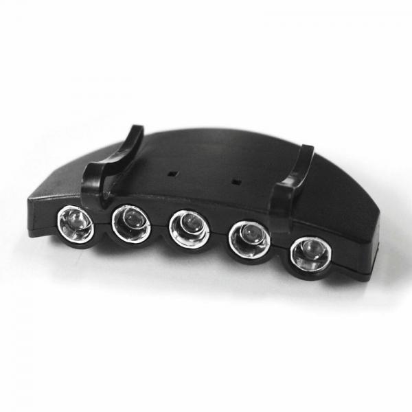 Lanterna cu sistem de prindere pe sapca pentru vanatoare si pescuit Dema DEMA30219, 5 LED-uri imagine 2021