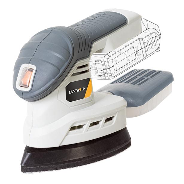 Masina de slefuit triunghiulara cu vibratii fara acumulator Maxxpack Collection Batavia BTV7063093, 18 V, 12000 rpm poza casaidea 2021
