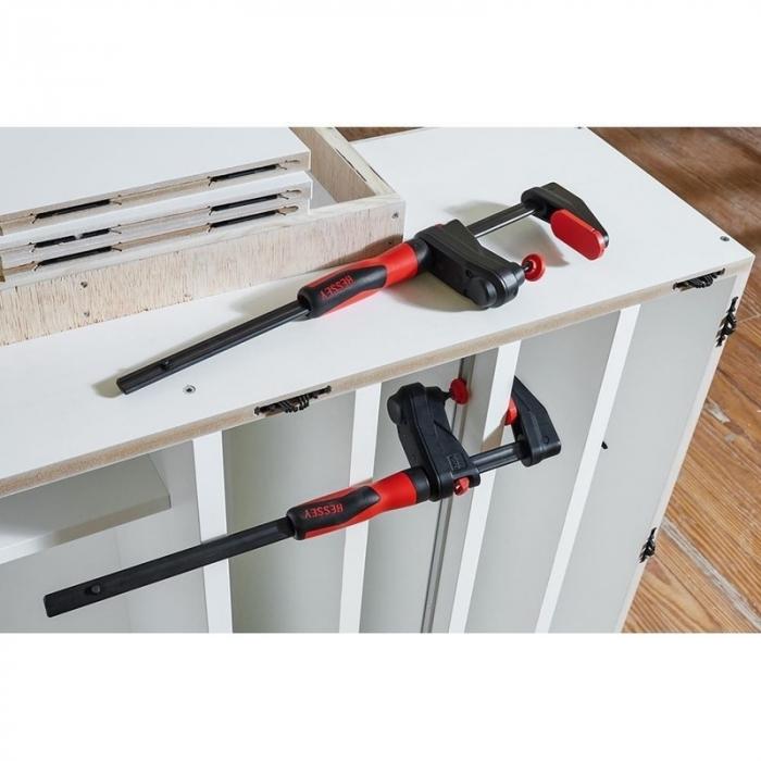 Menghina de transmisie tip F pentru lemn GearKlamp BESSEY BESGK30, 60x300 mm [6]