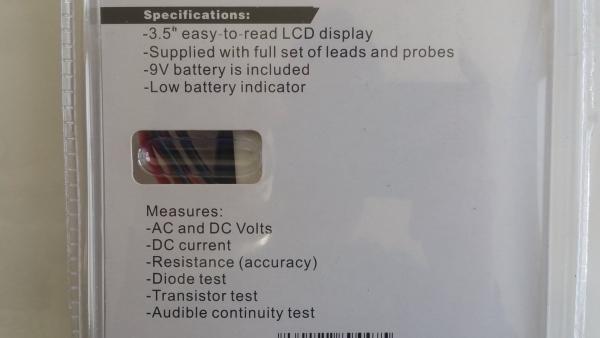 Multimetru digital Wert W2450, DC-AC, 500 V [3]