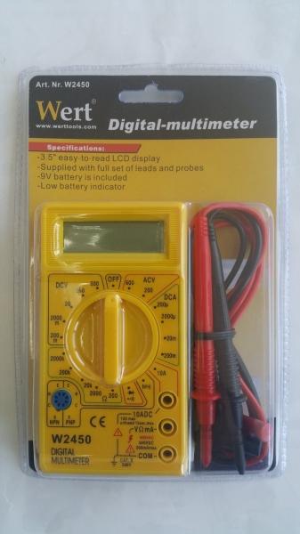 Multimetru digital Wert W2450, DC-AC, 500 V [1]