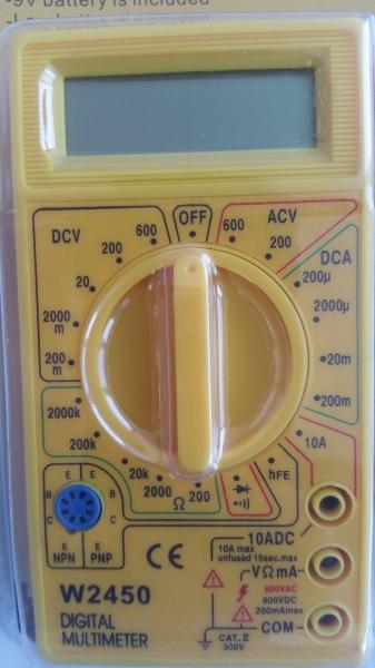 Multimetru digital Wert W2450, DC-AC, 500 V [2]